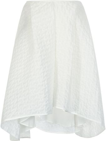 Cecilie Bahnsen Textured Detail Oversized Skirt
