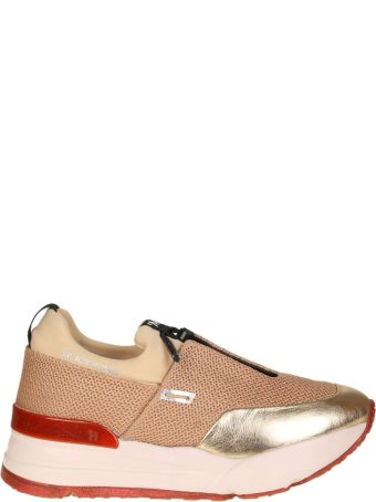 """Ruco Line Rucoline Sneakers """"essentiel"""" Net And Skin Pink Color"""