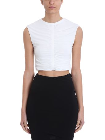 T by Alexander Wang Crepe Jersey Cropped Top