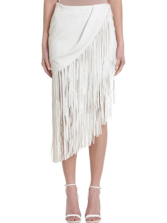 Magda Butrym London Leather Fringe Skirt