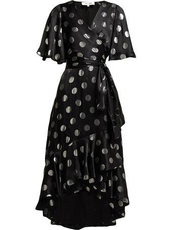 Diane Von Furstenberg Sareth Polka-dot Silk-blend Wrap Dress