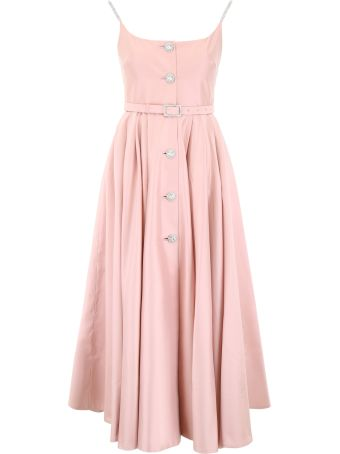 Alessandra Rich Dress With Crystals