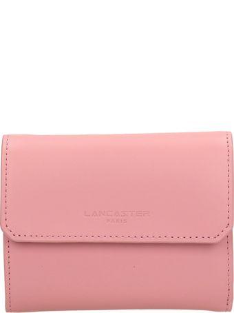 Lancaster Paris Pink Leather Wallet