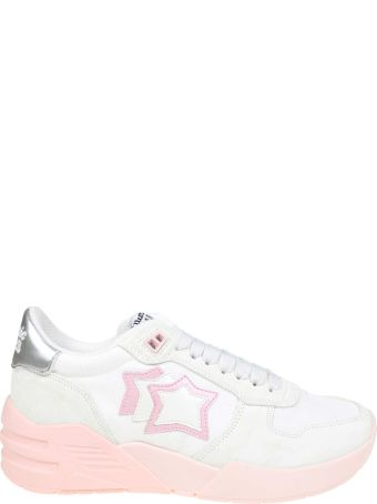 Atlantic Stars Venus Sneakers In Suede And White Fabric