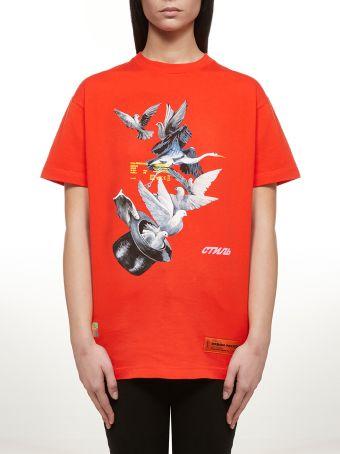 HERON PRESTON Birds Print T-shirt
