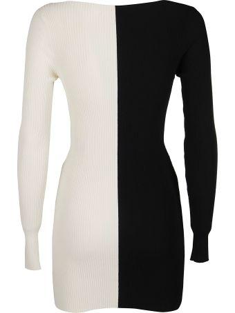 SSHEENA Black And White Viscose Dress