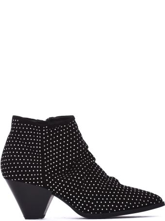 Janet & Janet Mia Black Ankle Boots