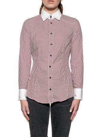 Bagutta White/blue Britneyc Striped Shirt