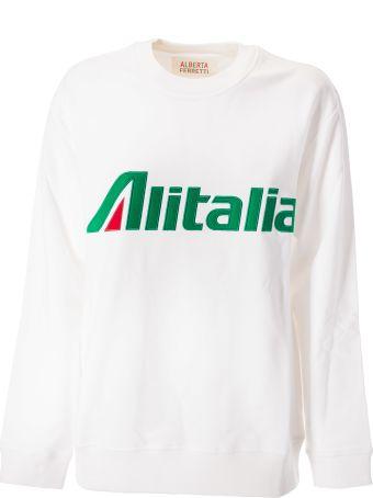 Alberta Ferretti Alitalia Patch Detail Sweatshirt