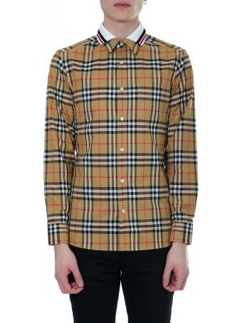 Burberry Antique Yellow Checked Shirt