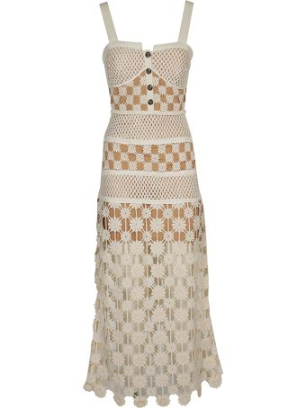 self-portrait Crochet Midi Dress