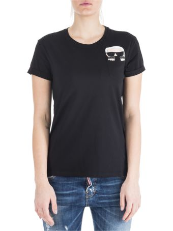 Karl Lagerfeld  T-shirt Short Sleeve Crew Neck Round Ikonik