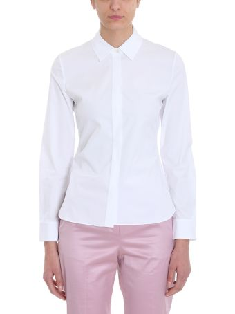 Theory White Cotton Shirt