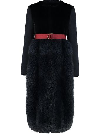 Blancha Wool Coat With Mink Fur
