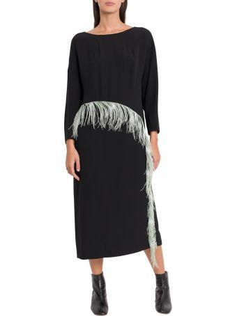 Dries Van Noten Feathers Embellishment Dress