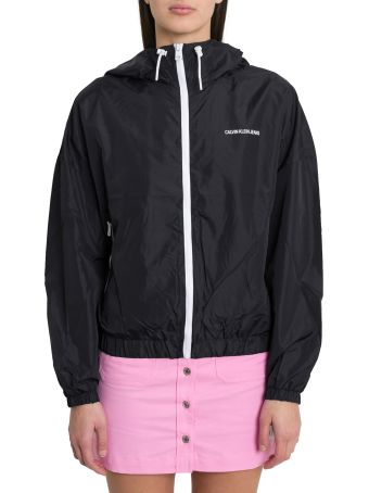 Calvin Klein Jeans Hodded K-way With Contrasting Zip