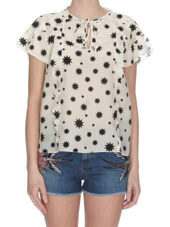 RED Valentino Stars And Shadows Print Top