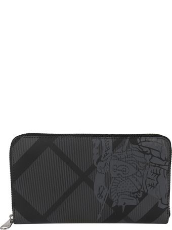 Burberry Edk London Checked Zip-around Wallet