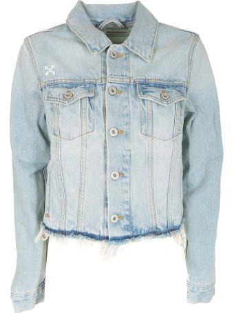 Off-White Cropped Denim Jacket