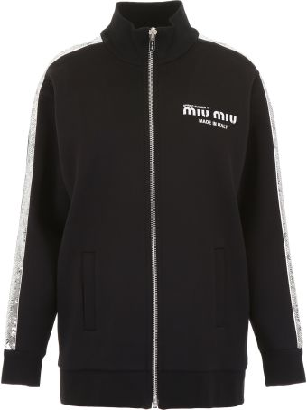 Miu Miu Track Jacket With Sequins