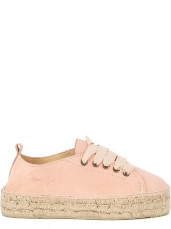 Manebi Manebí Hamptons Pink And Jute Espadrilla Sneaker