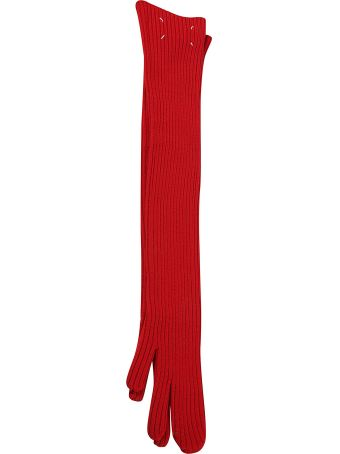 Maison Margiela Long Ribbed Gloves