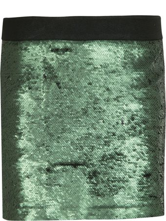 Black Coral Sequined Mini Skirt