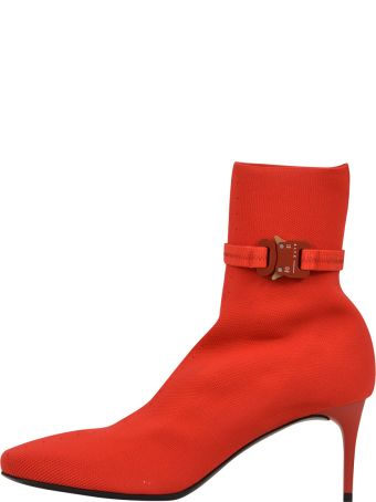 Alyx 6 Cm Knit Stretch Boots Red