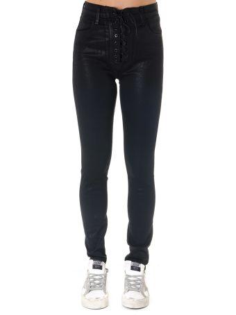 J Brand Black Skinny Trousers In Cotton