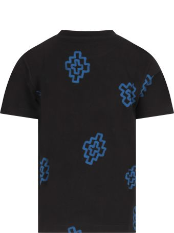Marcelo Burlon Black T-shirt For Boy With Crosses