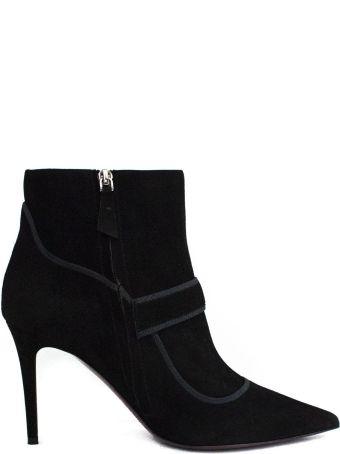 Dei Mille Ankle Boot In Black Velvet .