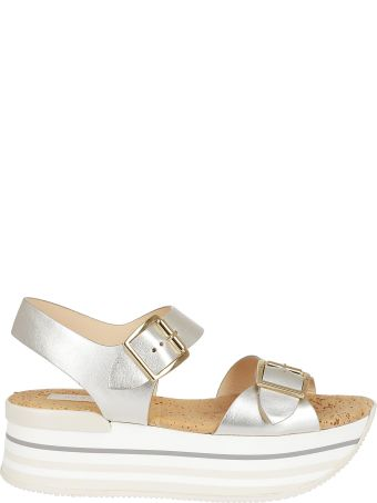 Hogan Maxi H222 Wedge Sandals