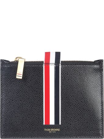 Thom Browne Coin Holder With Stripe Inlay