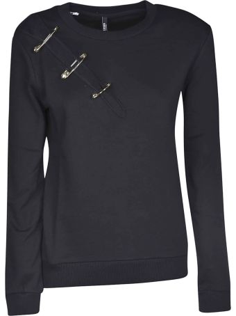 Versus Versace Safety Pin Slit Sweatshirt