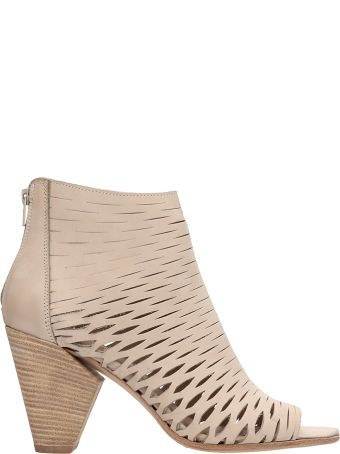 Strategia Boston Net Beige Leather Ankle Boot