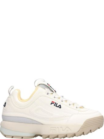 Fila Distruptor Low White Leather Sneakers