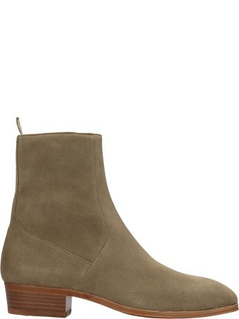 REPRESENT Chelsea Ankle Boots In Taupe Suede
