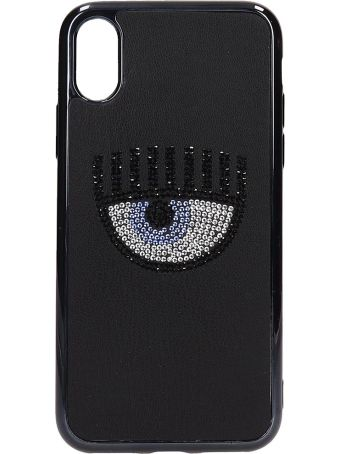 Chiara Ferragni Black Pvc Iphone X Cover