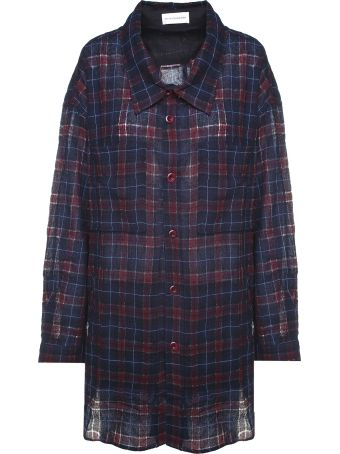Faith Connexion Check-print Wool-blend Oversized Shirt