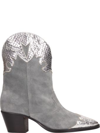 Paris Texas Tex Python Print Ankle Boots