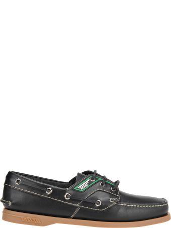 Prada Prada Logo Patch Deck Shoes