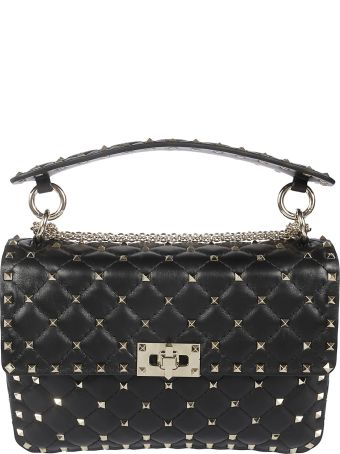 Valentino Rockstud Quilted Shoulder Bag