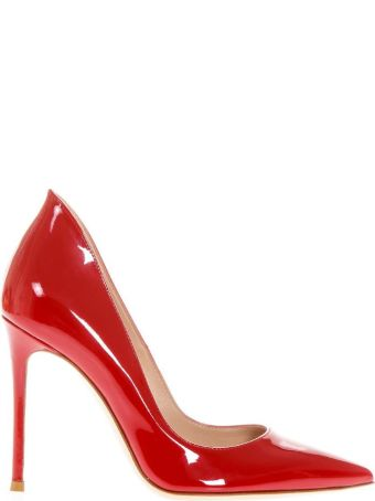 Gianvito Rossi Ellipsis Red Patent Leather Pumps