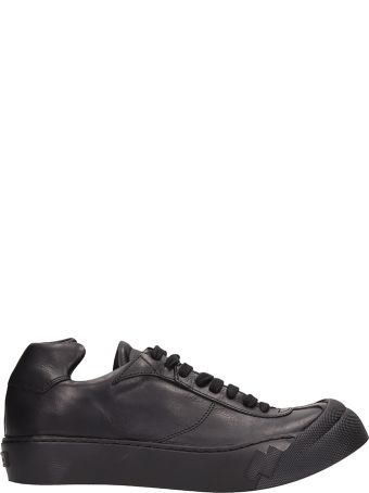 Cinzia Araia Black Leather Sneakers