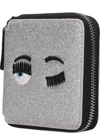 Chiara Ferragni Wallet In Silver Leather