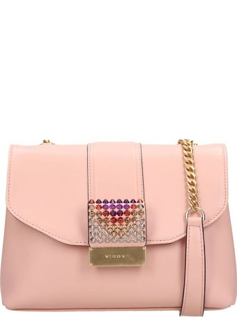 Visone Pink Leather Alice Bag