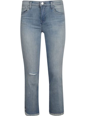 J Brand Ripped Detail Jeans