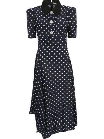 Alessandra Rich Polka Dot Dress