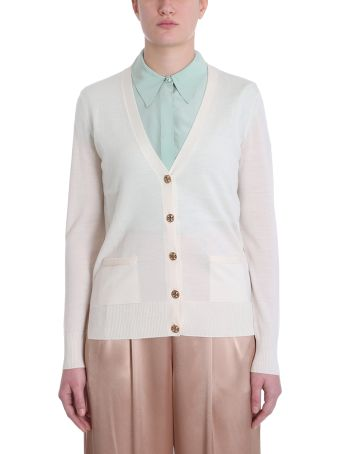 Tory Burch Madeline Powder Merino Wool Cardigan