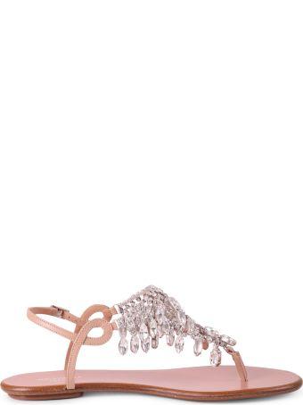 Aquazzura Pink Temptation Crystal Sandals